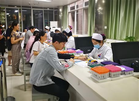 公司组织职工进行健康体检